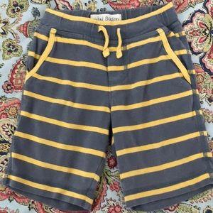 Mini Boden Boys Grey/Yellow Baggies 1 1/2-2 years